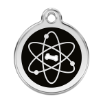 Red Dingo Dog Tag Atom Black