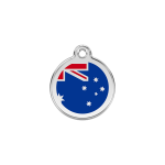 Red Dingo Dog Tag Australia Dark Blue
