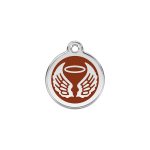 Red Dingo Dog Tag Angel Wings Brown