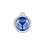 Red Dingo Dog Tag Angel Wings Dark Blue