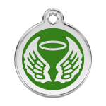 Red Dingo Médaille Angel Wings vert