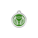 Red Dingo Dog Tag Angel Wings Green