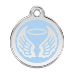 Red Dingo Médaille Angel Wings Bleu clair
