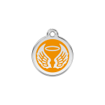 Red Dingo Dog Tag Angel Wings Orange