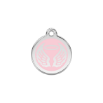Red Dingo Dog Tag Angel Wings Pink