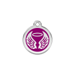 Red Dingo Dog Tag Angel Wings Purple