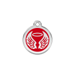 Red Dingo Dog Tag Angel Wings Red