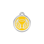 Red Dingo Dog Tag Angel Wings Yellow
