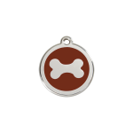 Red Dingo Dog Tag Bone Brown