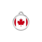 Red Dingo Dog Tag Canadian Flag Red