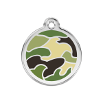 Red Dingo Dog Tag Camouflage Green