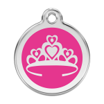 Red Dingo Dog Tag Crown Hot Pink