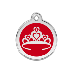 Red Dingo Dog Tag Crown Red