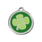 Red Dingo Dog Tag Clover Green
