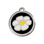 Red Dingo Dog Tag Daisy Black