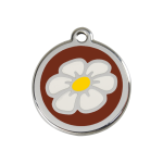 Red Dingo Dog Tag Daisy Brown