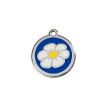 Red Dingo Dog Tag Daisy Dark Blue