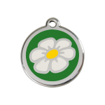 Red Dingo Dog Tag Daisy Green