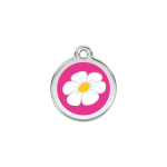 Red Dingo Dog Tag Daisy Hot Pink