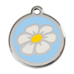 Red Dingo Dog Tag Daisy Light Blue