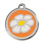 Red Dingo Dog Tag Daisy Orange