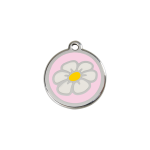 Red Dingo Dog Tag Daisy Pink