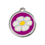 Red Dingo Dog Tag Daisy Purple