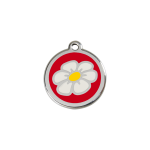 Red Dingo Dog Tag Daisy Red