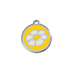 Red Dingo Dog Tag Daisy Yellow