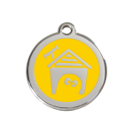 Red Dingo Dog Tag Dog House Yellow