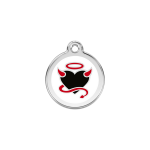 Red Dingo Dog Tag Devil White
