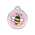 Red Dingo Dog Tag Bumblebee Pink