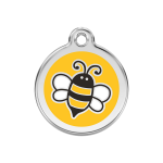Red Dingo Dog Tag Bumblebee Yellow
