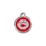 Red Dingo Cat Tag Fish Bowl Red
