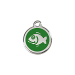 Red Dingo Cat Tag Fish Green