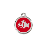 Red Dingo Cat tag Fish Red