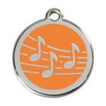 Red Dingo Dog Tag Music Orange