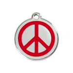 Red Dingo Dog Tag Peace Red