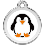 Red Dingo Dog Tag Penguin White