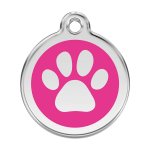 Red Dingo Medalla Pawprint Hot Pink