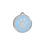 Red Dingo Dog Tag Pawprint Light Blue