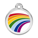Red Dingo Dog Tag Rainbow White