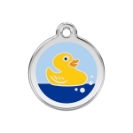 Red Dingo Dog Tag Rubber Duck Light Blue