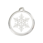 Red Dingo Dog Tag Snowflake White