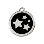 Red Dingo Dog Tag Star Black