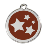Red Dingo Dog Tag Star Brown