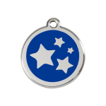 Red Dingo Dog Tag Star Dark Blue