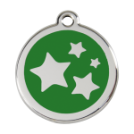 Red Dingo Dog Tag Star Green