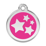 Red Dingo Dog Tag Star Hot Pink