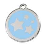 Red Dingo Dog Tag Star Light Blue